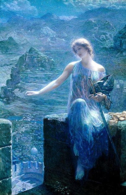 Edward Robert Hughes [English Pre-Raphaelite Painter 1851-1917] Valkira resized